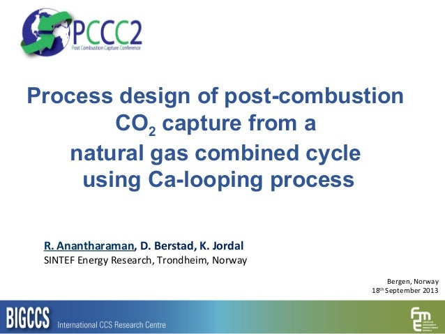 Process design of post-combustion CO2 capture from a natural gas combined cycle using Ca-looping process R. Anantharaman, ...