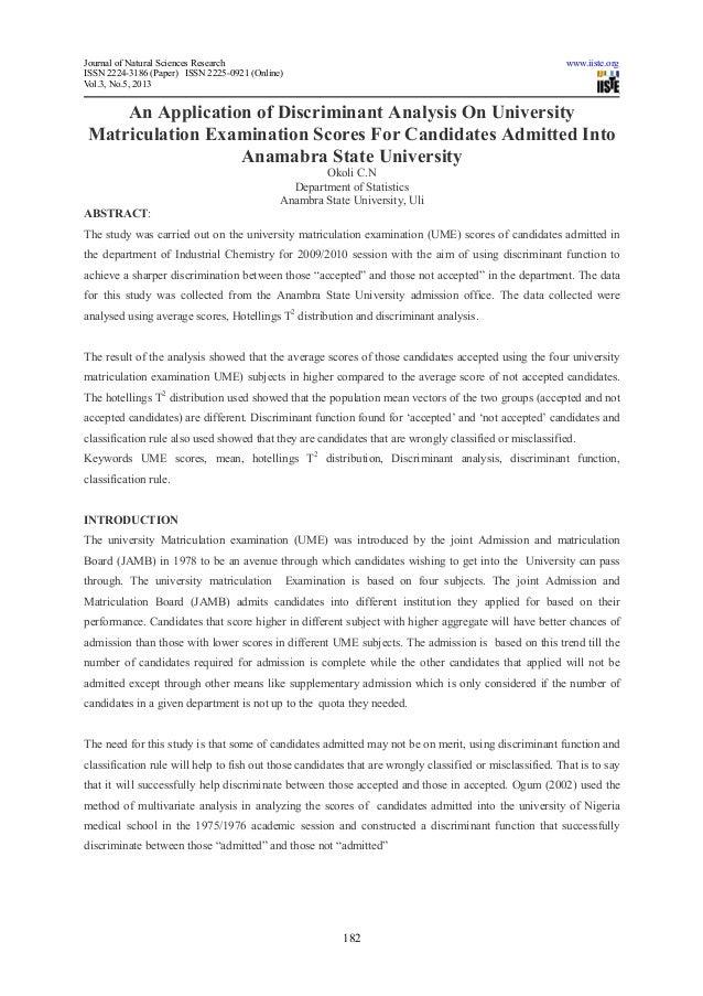Journal of Natural Sciences Research www.iiste.orgISSN 2224-3186 (Paper) ISSN 2225-0921 (Online)Vol.3, No.5, 2013182An App...