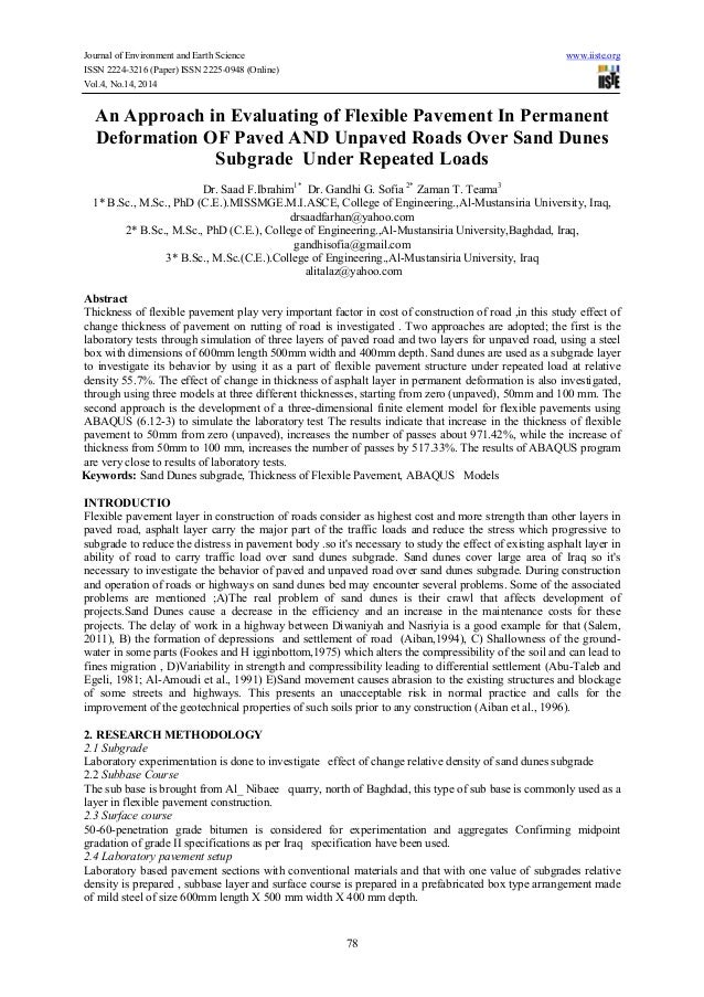 Journal of Environment and Earth Science www.iiste.org ISSN 2224-3216 (Paper) ISSN 2225-0948 (Online) Vol.4, No.14, 2014 7...