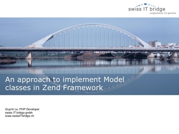 An approach to implement model classes in zend
