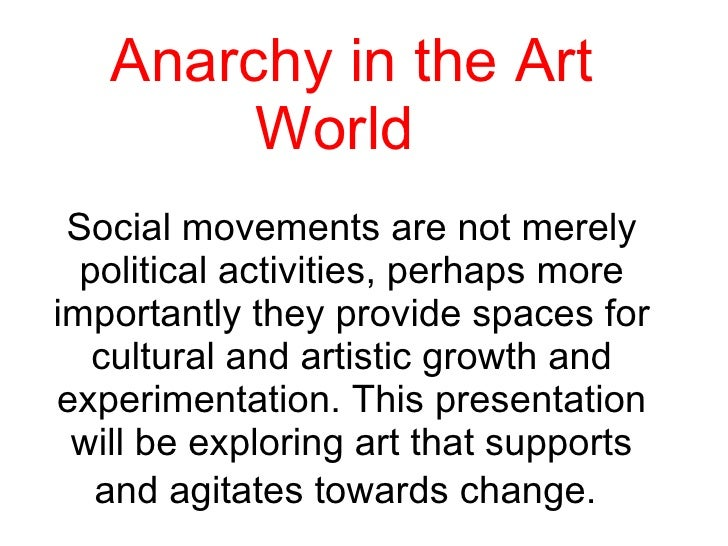Anarchy in the Artworld