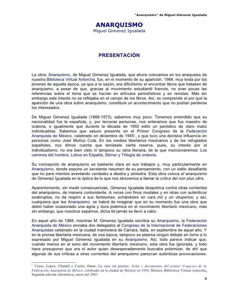 """Anarquismo"" de Miguel Gimenez Igualada                                           ANARQUISMO                              ..."