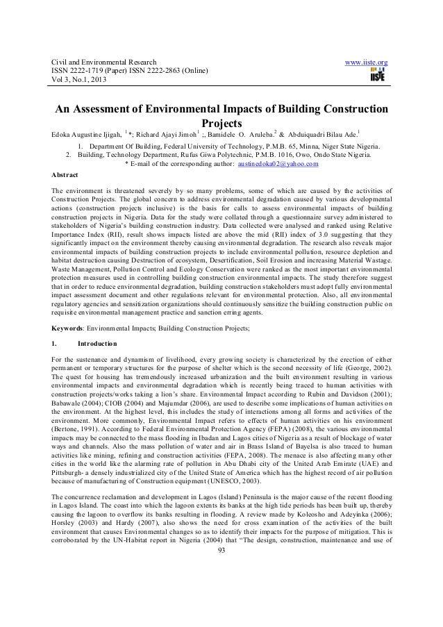 Civil and Environmental Research                                                                     www.iiste.orgISSN 222...