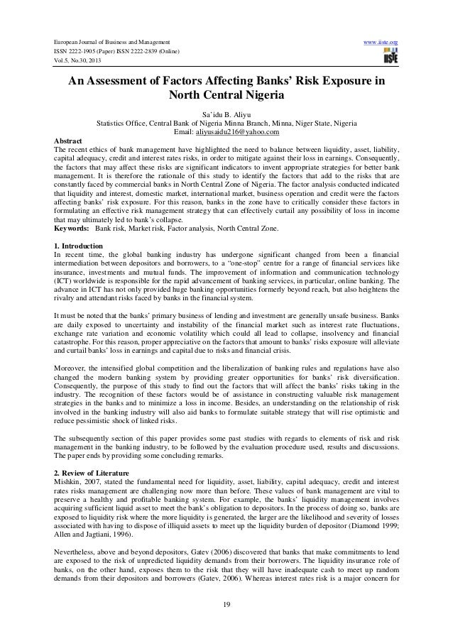 European Journal of Business and Management ISSN 2222-1905 (Paper) ISSN 2222-2839 (Online) Vol.5, No.30, 2013  www.iiste.o...