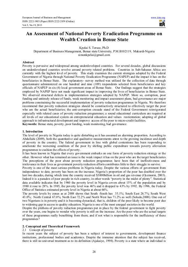 eradication of poverty essay