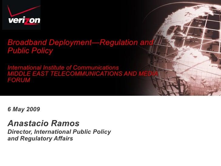 Broadband deployment: regulation and public policy