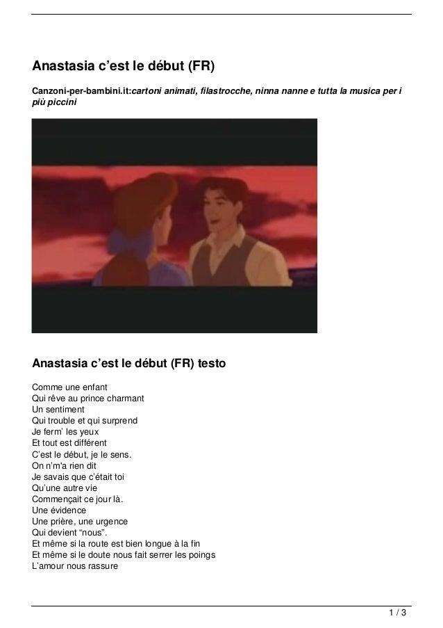 Anastasia c'est le début (FR)Canzoni-per-bambini.it:cartoni animati, filastrocche, ninna nanne e tutta la musica per ipiù ...