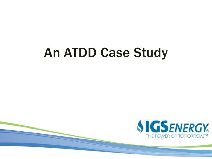 An ATDD Case Study