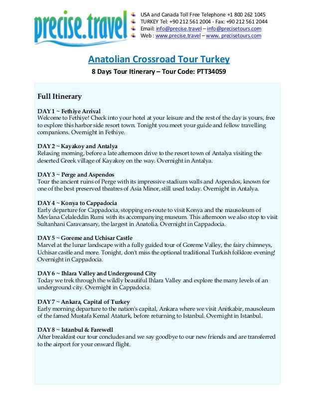 Anatolian Crossroad Tour Turkey in 8 Days