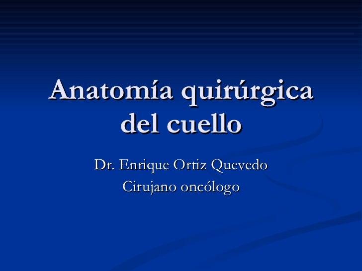 Anatomía quirúrgica del cuello