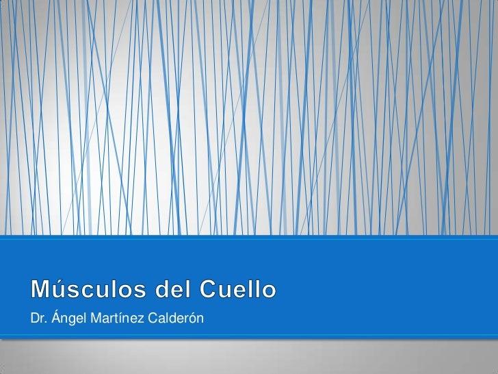 Dr. Ángel Martínez Calderón <br />Músculos del Cuello<br />