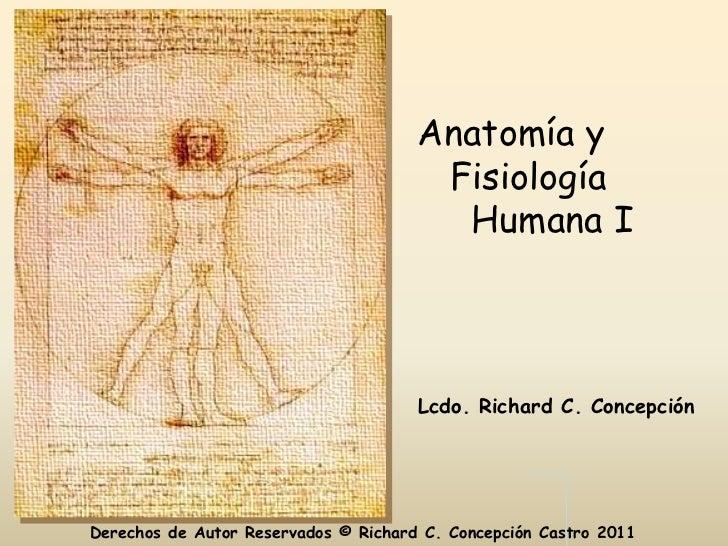 Anatomía y                                       Fisiología                                        Humana I               ...