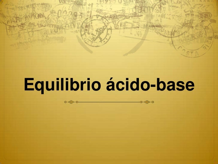 Equilibrio ácido-base
