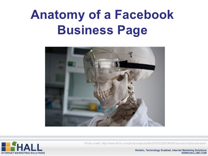 Anatomy of a Facebook Business Page Photo credit: http://www.flickr.com/photos/speckyfish2000/5229338690/sizes/m/in/photos...