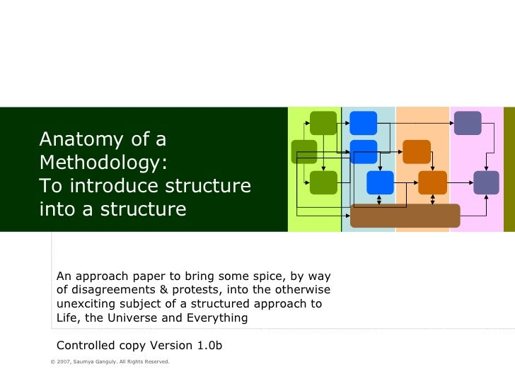 Anatomy of a Methodology: To introduce structure into a structure An approach paper to bring some spice, by way of disagre...