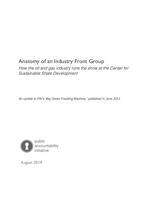 PAI Sham Report: Anatomy of an Industry Front Group