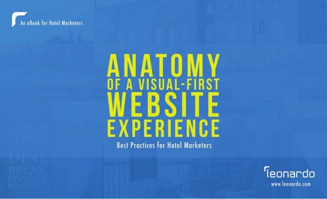 The anatomy of a visual first website experience, best practices.