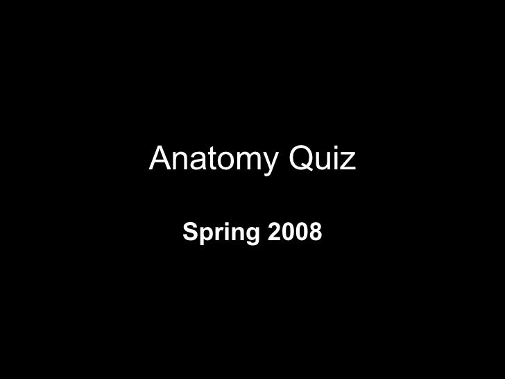 Anatomy Quiz Spring 2008