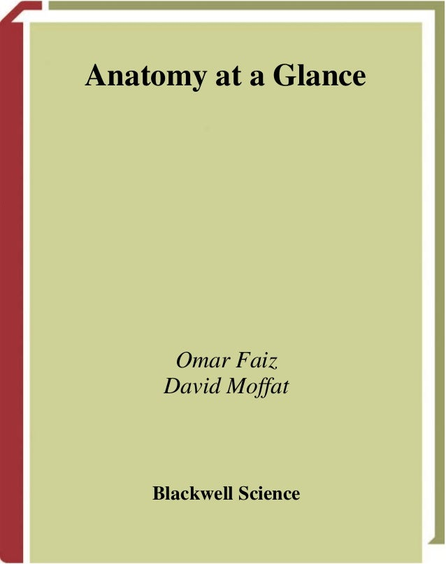 Anatomy at a GlanceOmar FaizDavid MoffatBlackwell Science