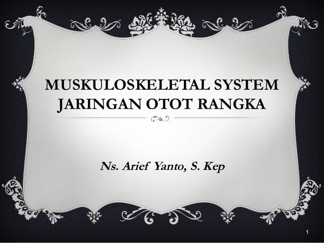 MUSKULOSKELETAL SYSTEM JARINGAN OTOT RANGKA Ns. Arief Yanto, S. Kep 1