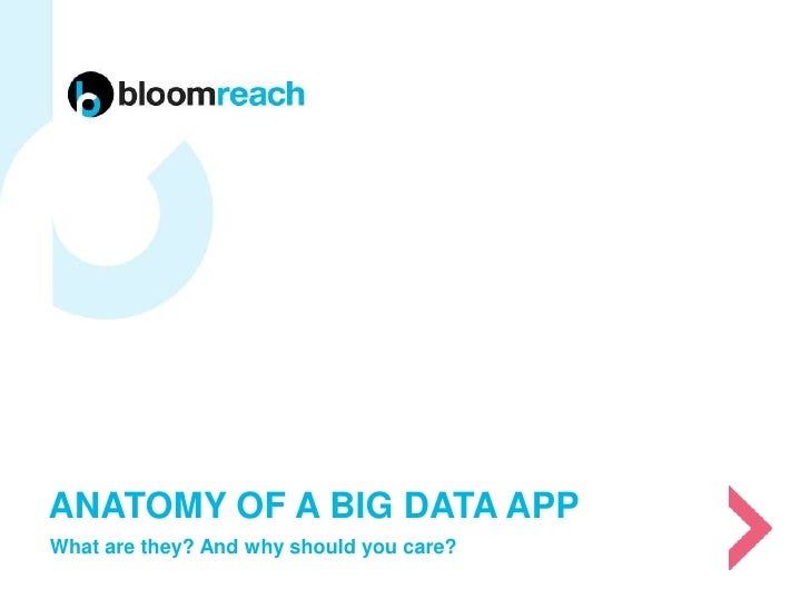 ANATOMY OF A BIG DATA APPWhat are they? And why should you care?