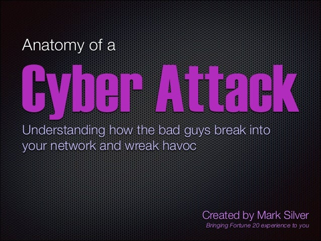 Anatomy of a  Cyber Attack Understanding how the bad guys break into your network and wreak havoc  Created by Mark Silver