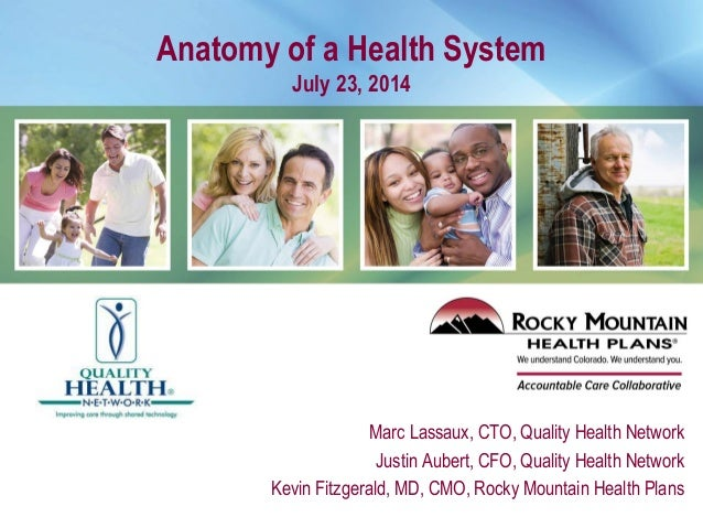 Anatomy of a Health System July 23, 2014 Marc Lassaux, CTO, Quality Health Network Justin Aubert, CFO, Quality Health Netw...