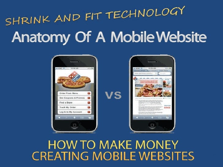 Anatomy of a mobile website