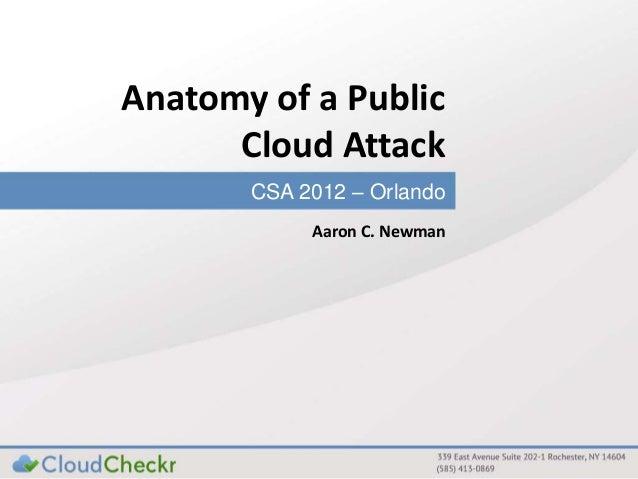 Anatomy of a Public Cloud Attack | CSA Orlando