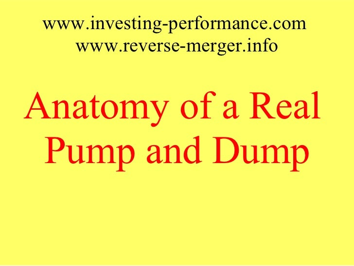 Anatomy of a real pump and dump