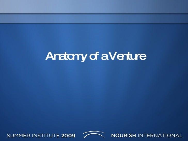 Anatomy Of A Venture