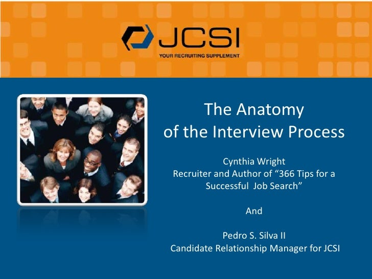 "The Anatomy <br />of the Interview Process <br />Cynthia Wright<br />Recruiter and Author of ""366 Tips for a Successful  J..."