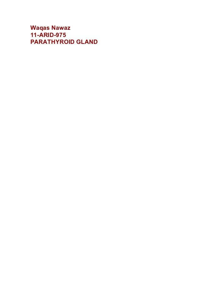 Waqas Nawaz11-ARID-975PARATHYROID GLAND