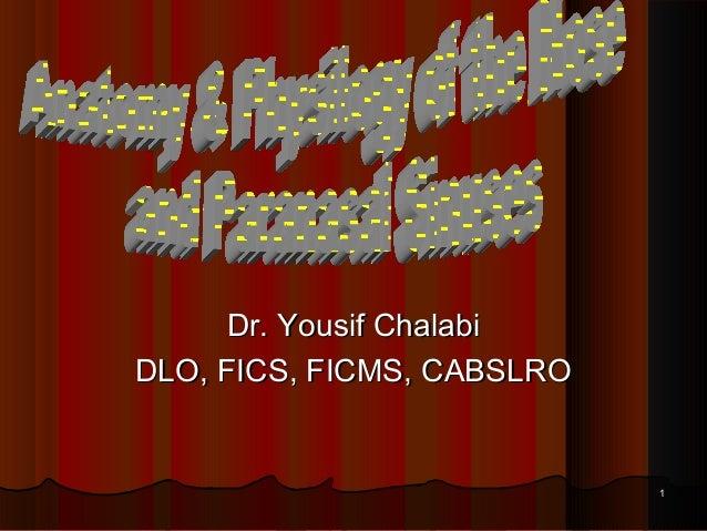 11 Dr. Yousif ChalabiDr. Yousif Chalabi DLO, FICS, FICMS, CABSLRODLO, FICS, FICMS, CABSLRO