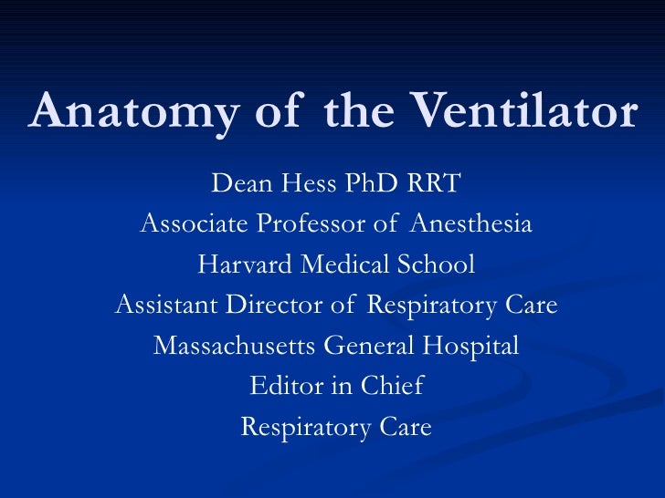 Anatomy of the ventilator