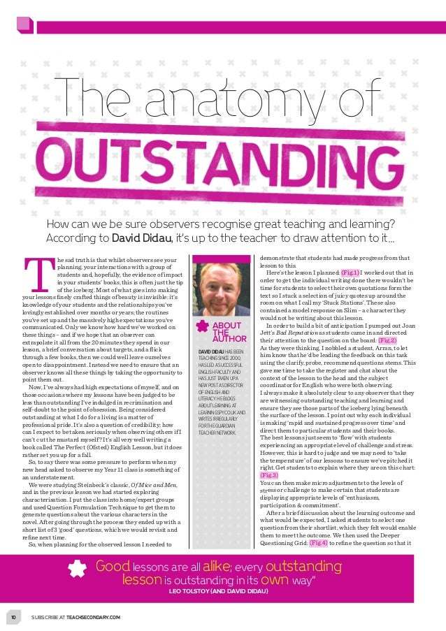 Anatomy of outstanding article