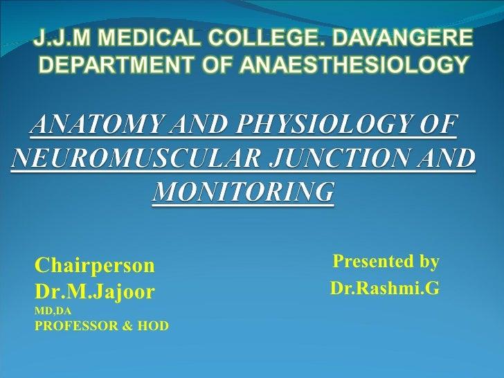 Presented by Dr.Rashmi.G Chairperson  Dr.M.Jajoor  MD,DA PROFESSOR & HOD