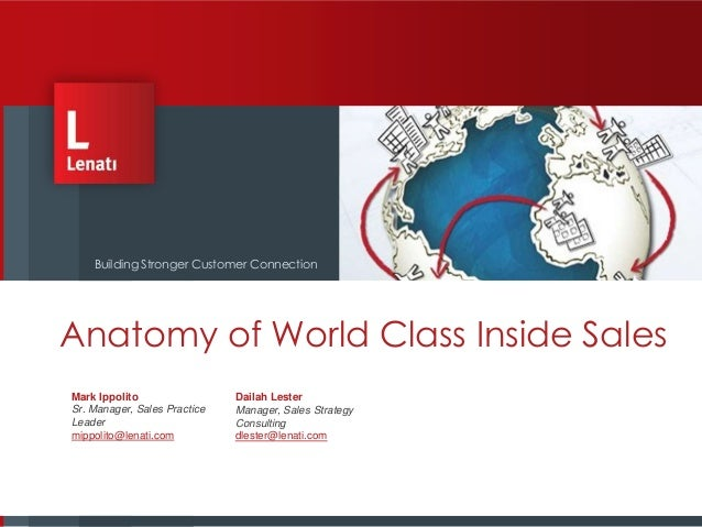 Anatomy world class inside sales organization- lenati