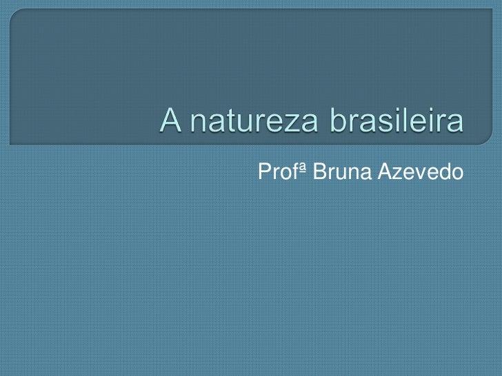 A natureza brasileira<br />Profª Bruna Azevedo<br />