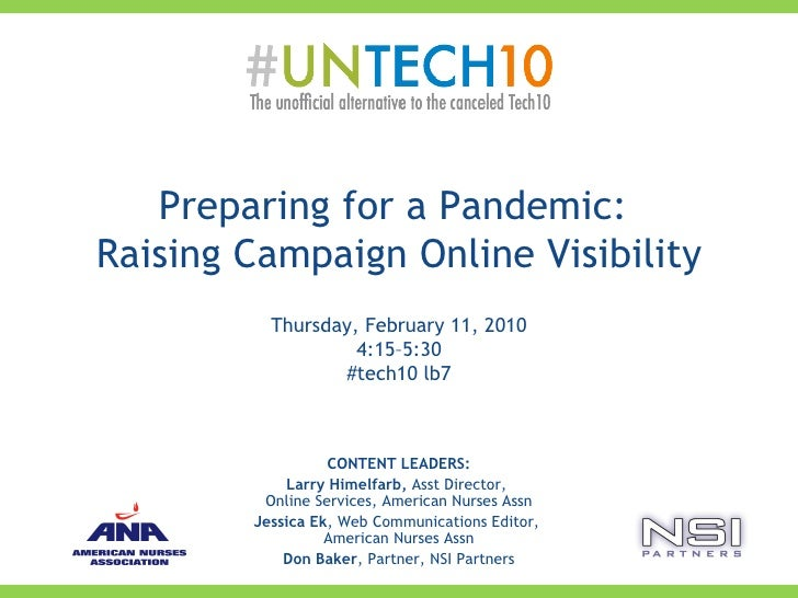 Preparing for a Pandemic: Raising Campaign Online Visibility