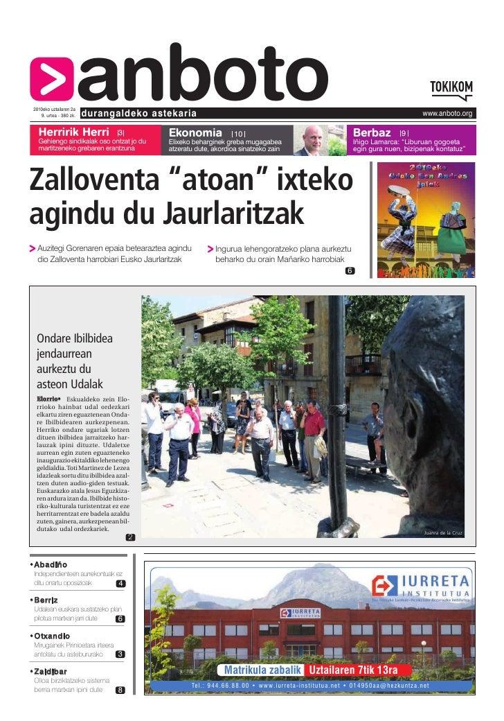 Herririk Herri                      anboto  2010eko uztailaren 2a     9. urtea - 380 zk.   durangaldeko astekaria         ...