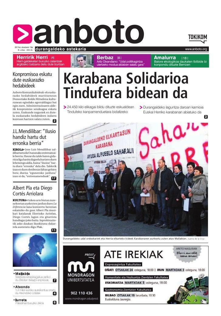 Herririk Herri                     anboto 2011ko otsailaren 18a    9. urtea - 404 zk.   durangaldeko astekaria            ...