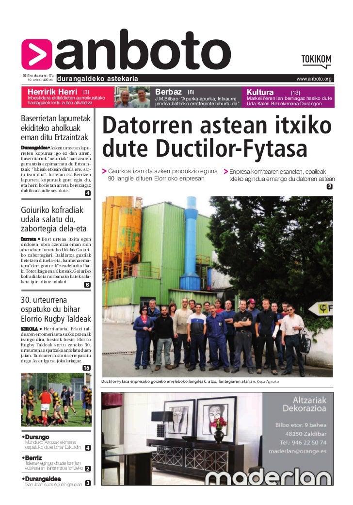 2011ko ekainaren 17a   Herririk Herri                     anboto   10. urtea - 420 zk.   durangaldeko astekaria           ...
