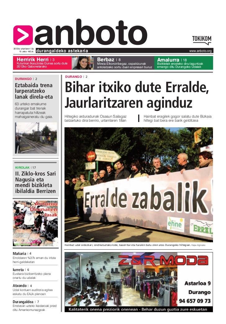 2012ko urtarrilaren 13a   Herririk Herri                       anboto     10. urtea - 442 zk.   durangaldeko astekaria    ...