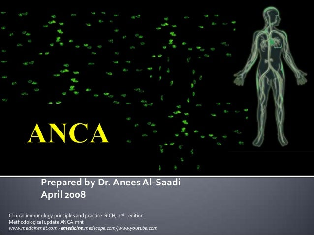 Prepared by Dr. Anees Al-Saadi             April 2008Clinical immunology principles and practice RICH, 2nd editionMethodol...