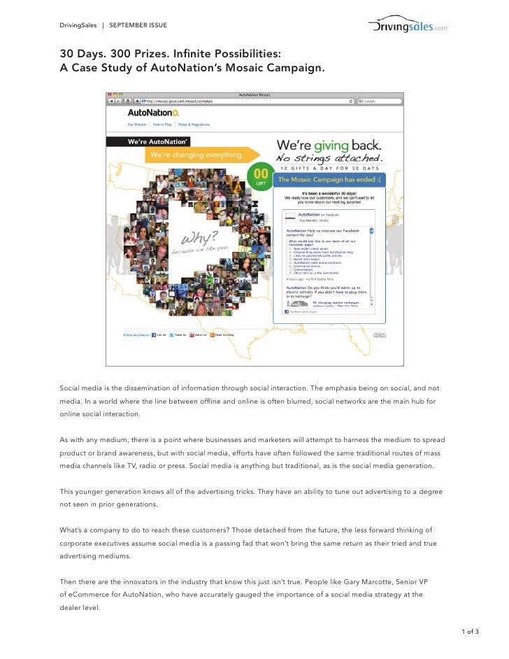 AutoNation Case Study