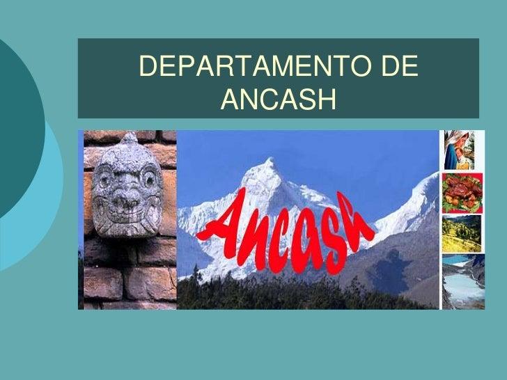 DEPARTAMENTO DE    ANCASH