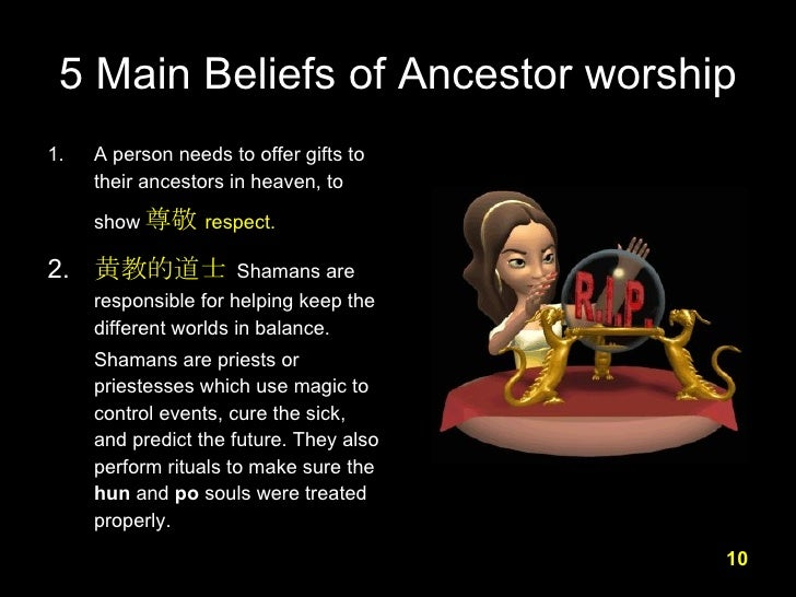 ancestor worship Chapter iv ancestor worship and christianity the relation between ancestor worship and christianity in china is not merely a question of theory.