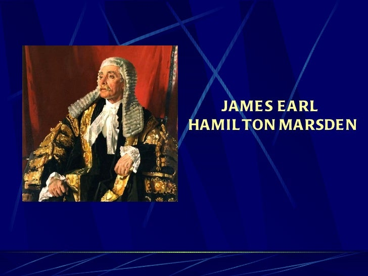 James Earl Hamilton Marsden - Ancestors