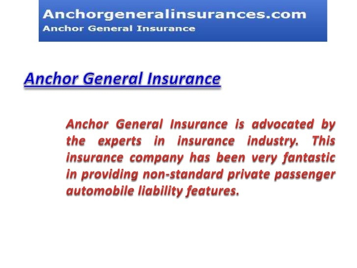 The General Insurance Quotes Simple Anchor General Insurance Quote  44Billionlater